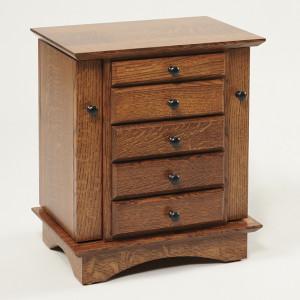 Shaker Dresser Top Jewelry Cabinet Quartersawn White Oak