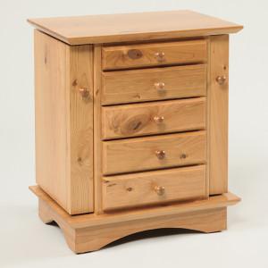 Shaker Dresser Top Jewelry Cabinet Rustic Cherry