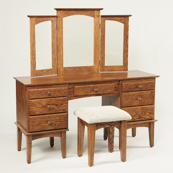 Shaker Dressing Table Oak 56