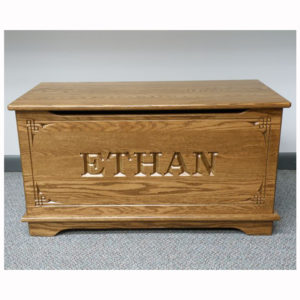 Shaker Toy Box Custom Name Carving
