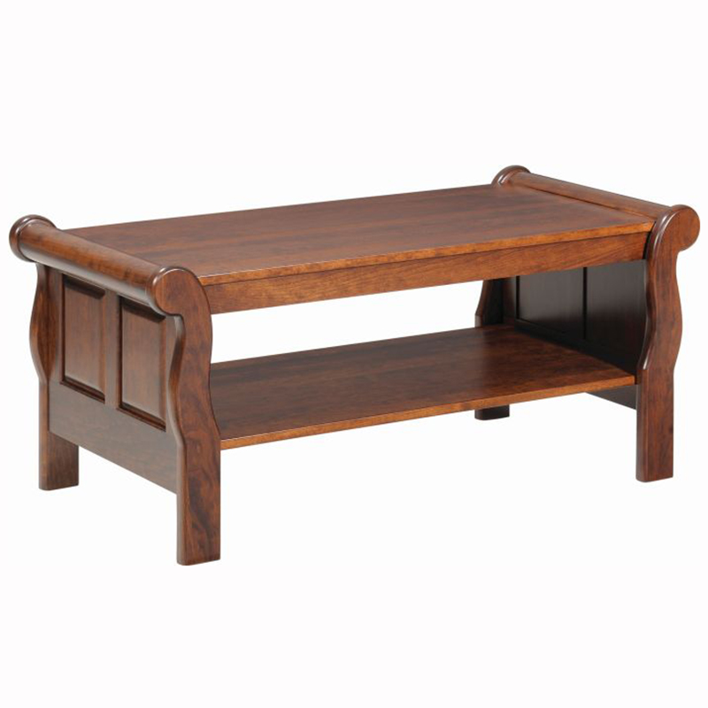 Sleigh End Table Home Wood Furniture
