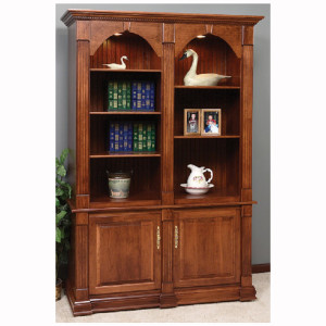 Twin Crescent Moon Executive Bookcase
