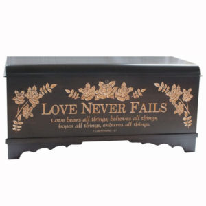 Waterfall Chest Painted Carving Standard